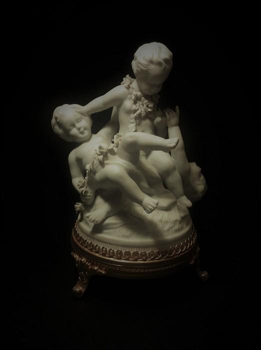Figurine 3 children Biscuit