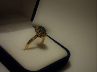 Gold Ring Emerald