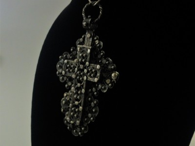 Filigree Silver Cross Reliquary