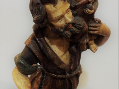 Wooden Sculpture of St. Christopher