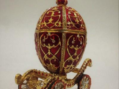 French Enamel Egg Carriage