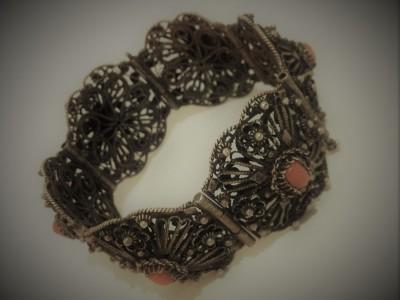 Filigree Bracelet Coral