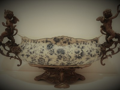 Antique Ceramic Fruit Bowl