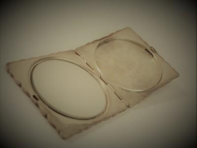 Silver Compact Pocket Mirror