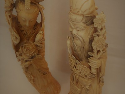 Pair of Ivory Figures