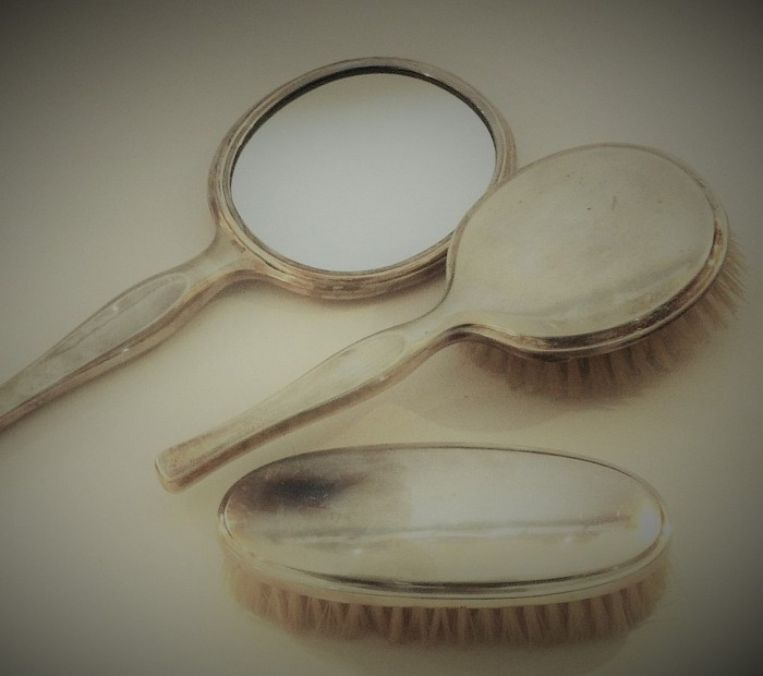 Silver Brushes & Mirror