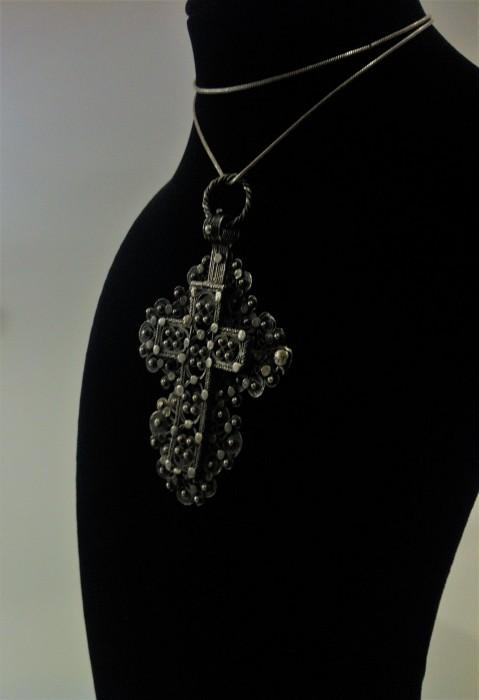 Filigree Silver Cross Reliquary