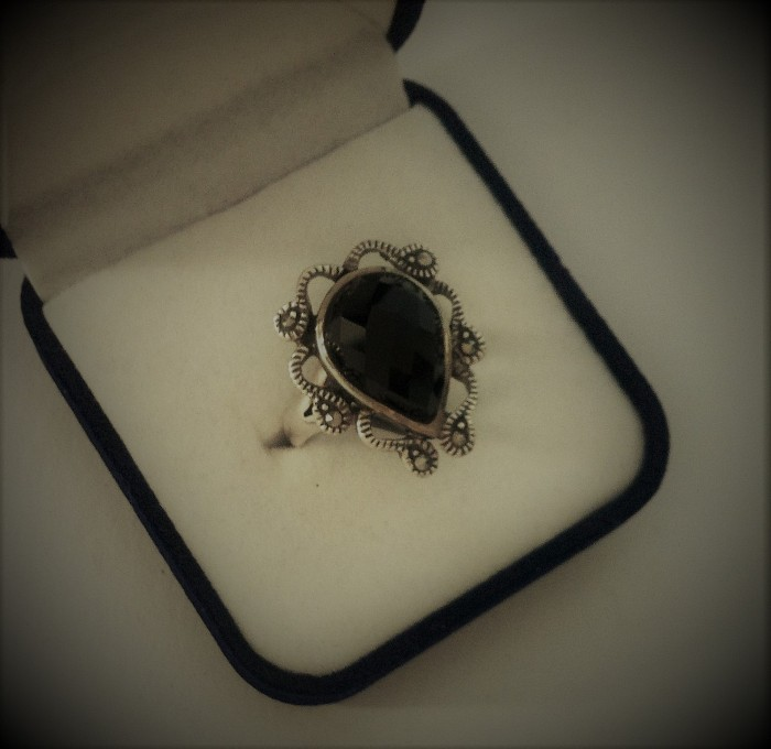 Silver Ring Onix