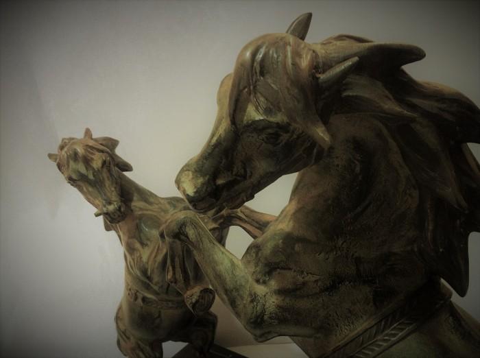 Bronze Horses Sculpture