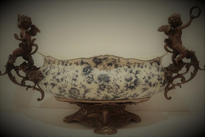 Antique Ceramic Fruit Bowl