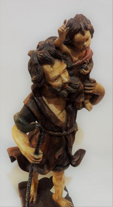 Wooden Sculpture of St. Christopher