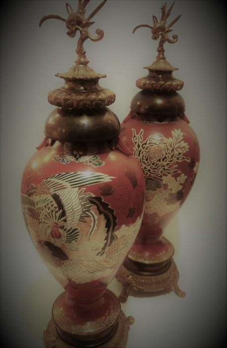 Chinese Enamel Vases Pair